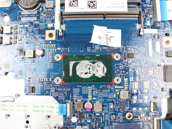 Once the fan is removed, you will see the hot plate that transfers the heat from the laptop to the fan. You will need to add thermal paste to the hot plate before placing your replacement fan back on.