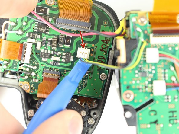 Remove the Black, Yellow, Green cable from the top case board.