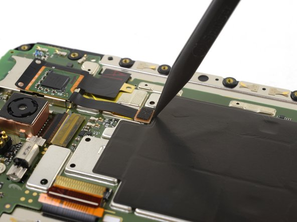 Use the point of a spudger to lift the second display connector straight up and out of its socket.