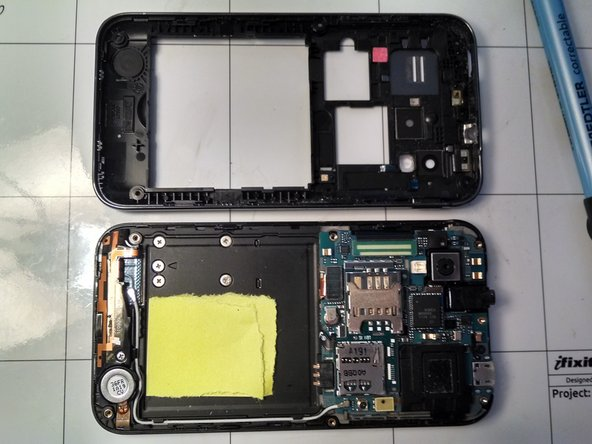 Shown here are internals of the phone.