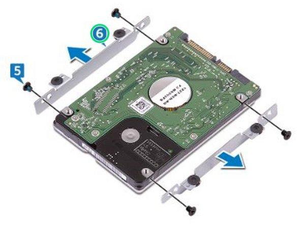 Remove the hard-drive bracket off the hard drive.