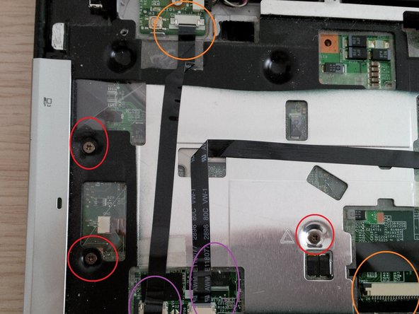 now remove all the other screws on the upper case. (under the keyboard)