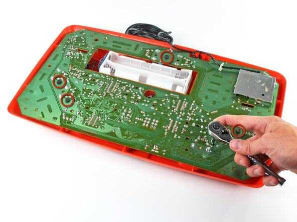 The back of the board is relatively featureless due to the use of through-hole components.