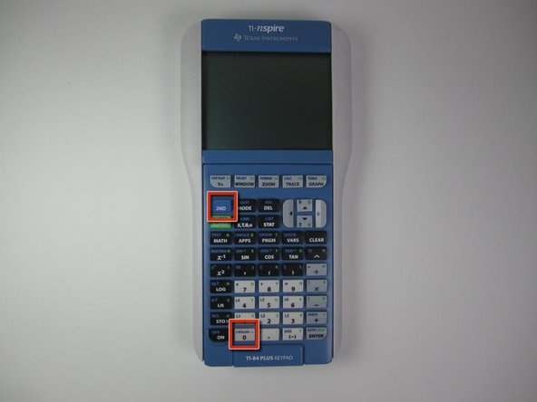 Now on your calculator, bring up the catalog by pressing  2nd + 0 (catalog).