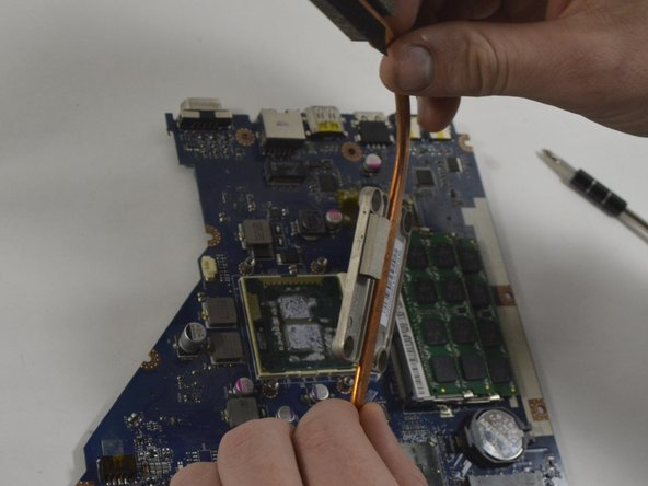 The heat sink can now be removed from the motherboard and CPU.