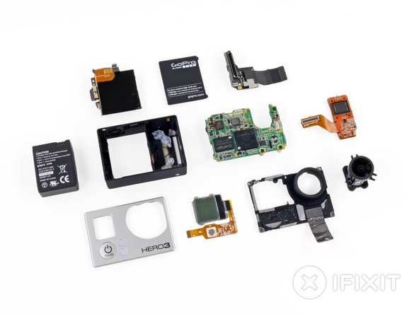 GoPro HD Hero3 Repairability Score: 7 out of 10 (10 is easiest to repair)