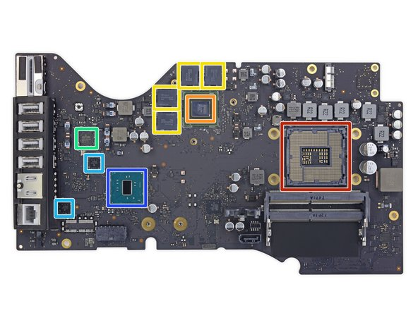 Now that it's stripped of all accoutrements, we can ID this logic board's silicon: