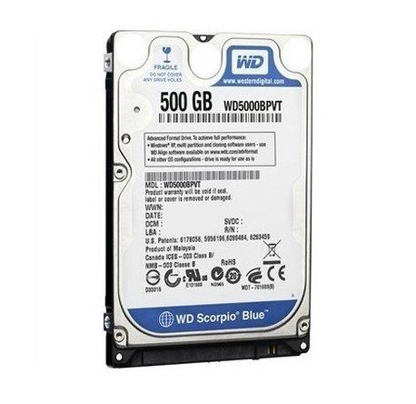 500 GB 5400 RPM Western Digital - Scorpio Blue SATA-II Hard Drive Main Image