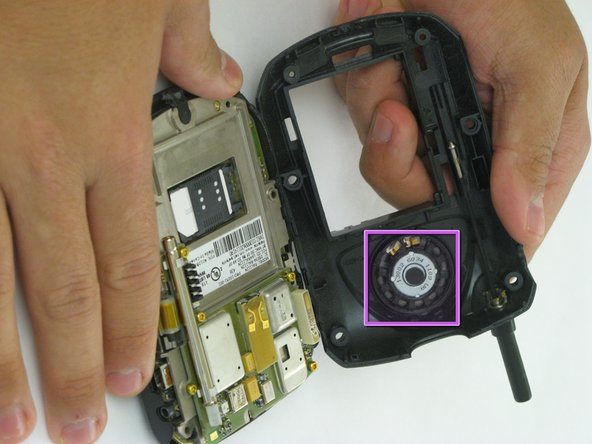 Separating the two halves allows you to access the speaker. Which is located in the front half of the case.