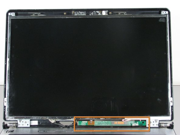 Image 3/3: The screen inverter is now exposed below the LCD.