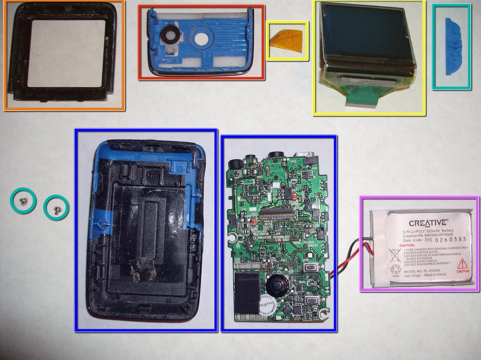 Zen V Creative Media Player Teardown Ifixit Short Circuit No Disassemble