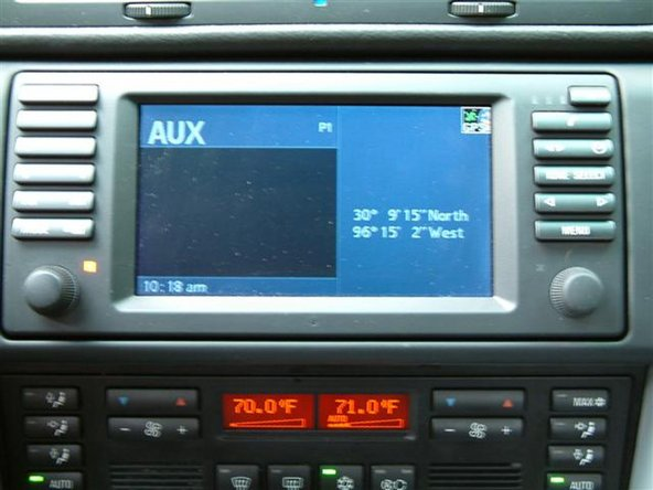 Once installed connect your audio device to the Aux Audio Input plug and use the MODE button to select AUX on your radio display