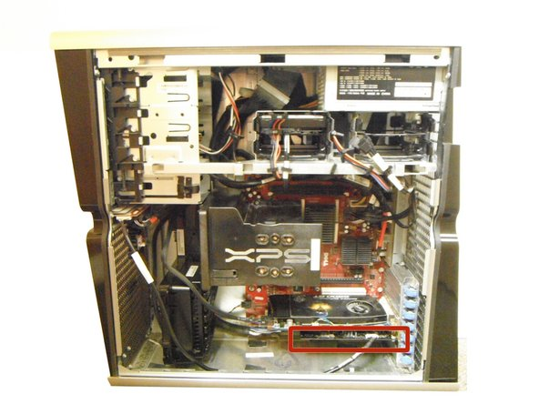 The sound card is located at the bottom right of the computer area.