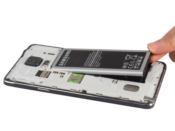 Remove back cover easily. And take away the battery, SIM card and S Pen by the way.
