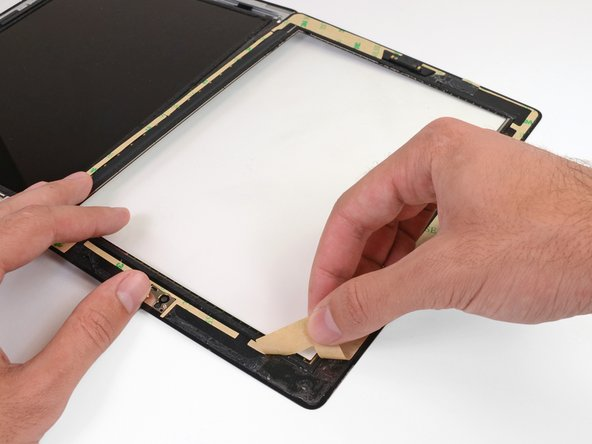 Make sure that each adhesive strip is placed in the correct location and orientation before peeling the backing.