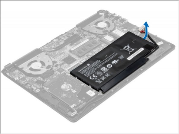 Lift and remove the battery from the computer.