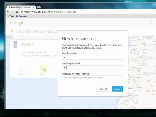 Your current lock screen will be replaced with a password lock. Don't use your Google account password
