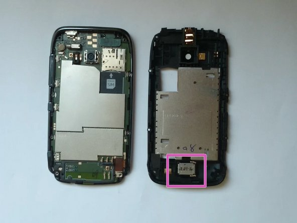 Image 1/2: Disconnect the LCD Display flex cable.