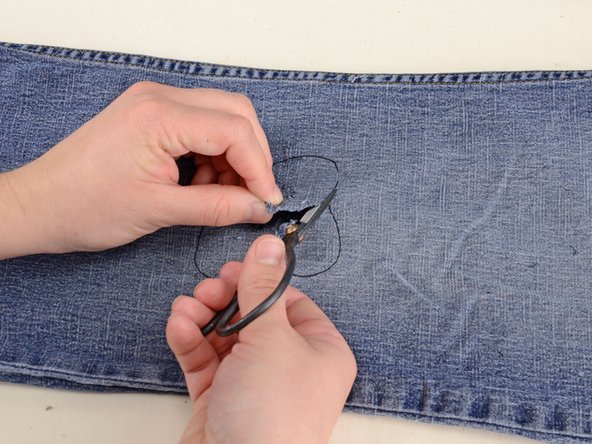 Cut the design out of your jeans.