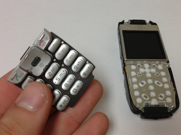 Remove the keypad by gently pulling it from the front of the phone.