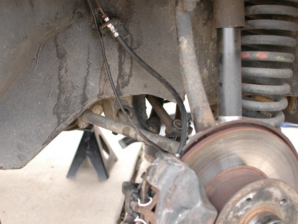 Image 1/1: Before you drive the car you must bleed your brakes of air since you opened up the system. Never drive the car without bleeding after you've worked on the lines, or calipers. [guide|21442|See the brake flush/bleeding guide.]