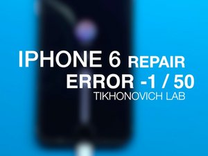 Error -1 / 50 iPhone 6