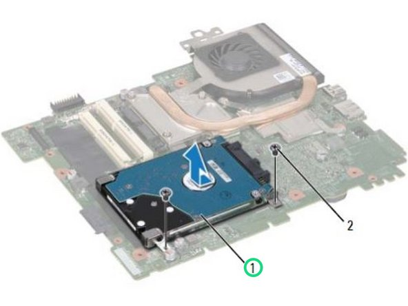 Lift the hard-drive assembly off the system board.