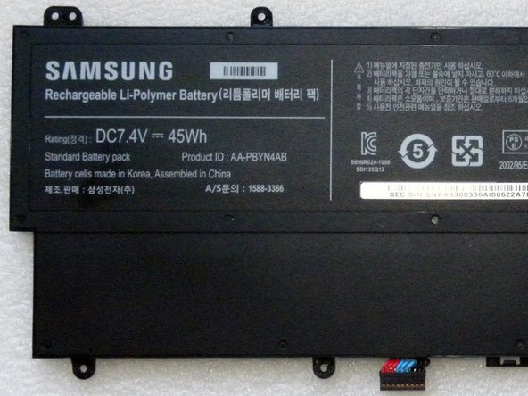 Samsung 7.4V 45Wh battery.