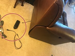 Round 2-Button Recliner Power Switch with 5-prongs