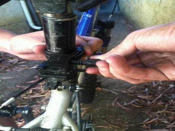 Insert the screw into the bracket screw hole.