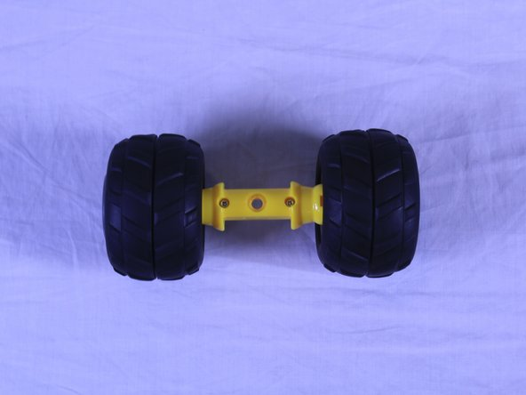 Repeat the same steps for the back axle of the car but without concern of the curved part.