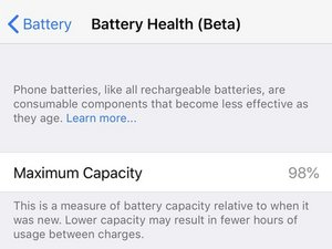 Check your iPhone Battery Health