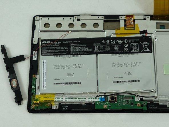 Image 3/3: Remove the speaker.