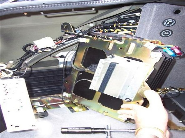 Once disconnected, connect the antennna wire to the back of the new navigation drive and remove the old separate GPS module as it will no longer be required