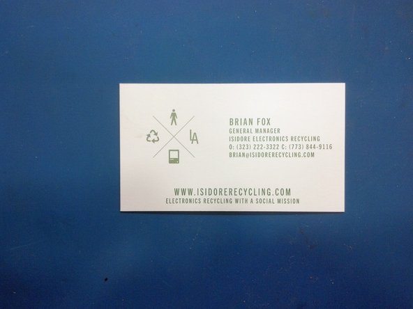 Now take some nice card stock or a business card.