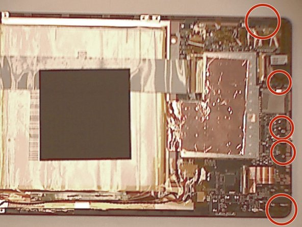 Remove the 5 motherboard screws and gently separate it from the back of the lcd.