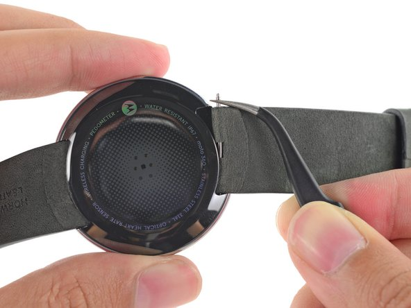 Motorola claims that the Moto 360 should fit any standard 22 mm wristband.