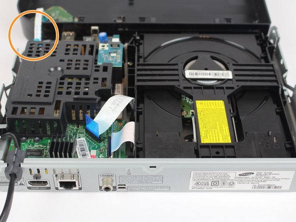 When opening the device,  pay attention to the ribbon cable circled in image 3.