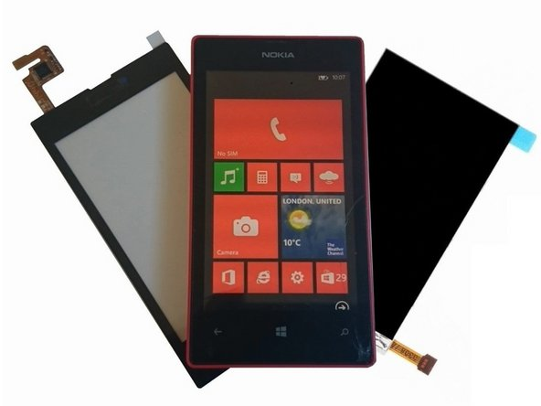 Nokia Lumia 520 Touch screen Glass, LCD Display, Loudspeaker, Earpiece Replacement