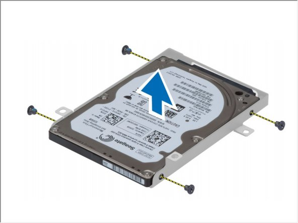 Remove the screw that secure secondary hard drive to the bracket.