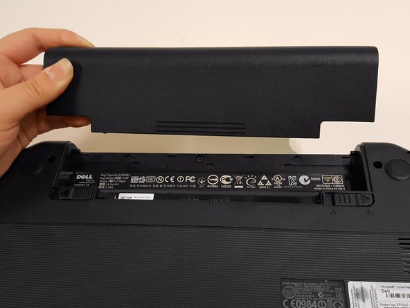 Your laptop's battery should be completely removed.