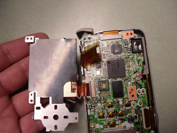 Flip the LCD screen over.