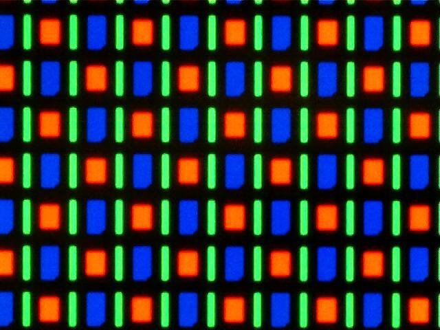 Sub-pixels on an OLED display