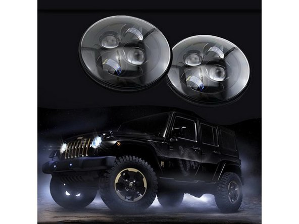 How to Install a LED Headlights on Jeep Wrangler