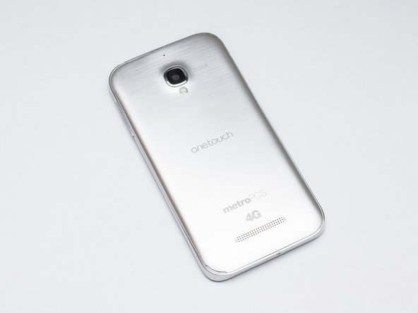 This is the Metro PCS variant of the phone in a nice metallic silver color.