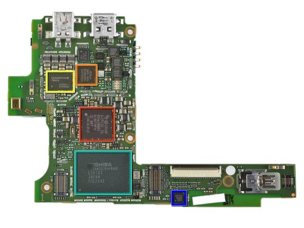 Image 1/1: ST Ericsson CPCAP 2.2TC22 DC Power Management (thanks, [link|http://www.chipworks.com|Chipworks]!)