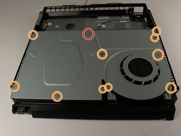 Unscrew and remove the 31.0mm screw using a T8 screwdriver with a counter-clockwise motion.