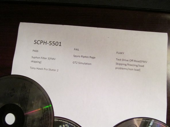 Repaired SCPH-5501