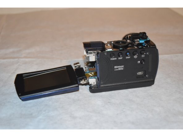 Carefully detach the LCD Screen from the rest of the camera.