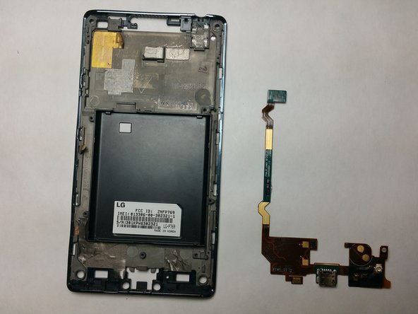 Comparison showing the Micro-USB module against the empty phone casing